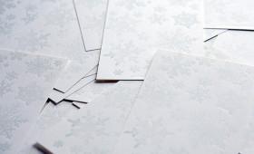 雪の葉書|snowflake postcard