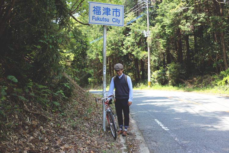 峠の頂上が福津市と宗像市の境