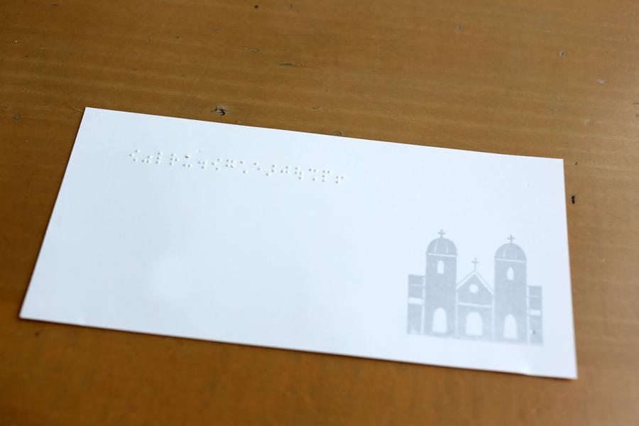点字と活版印刷のカード
